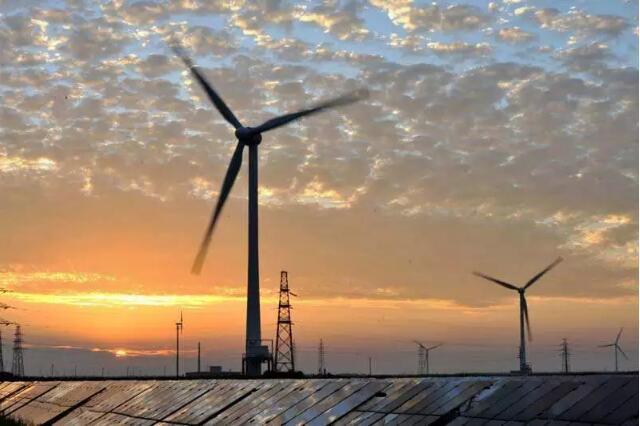 高邮东部风电场项目50台风机全部并网